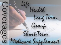 Gualdoni Insurance offers Health, Long-Term, Group, Short-Term, and Medicare Supplements.